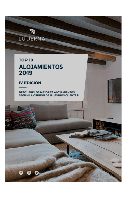 Top 10 mejores alojamientos 2019