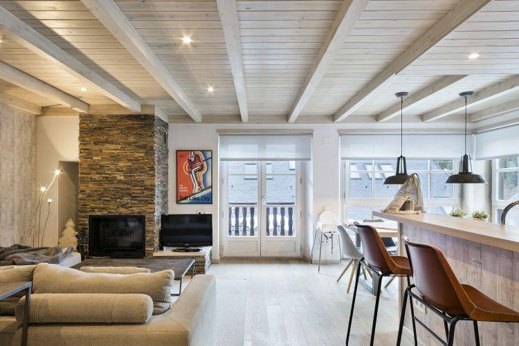 Apartamento Scandi del Pirineo en Val de Ruda B22 salón