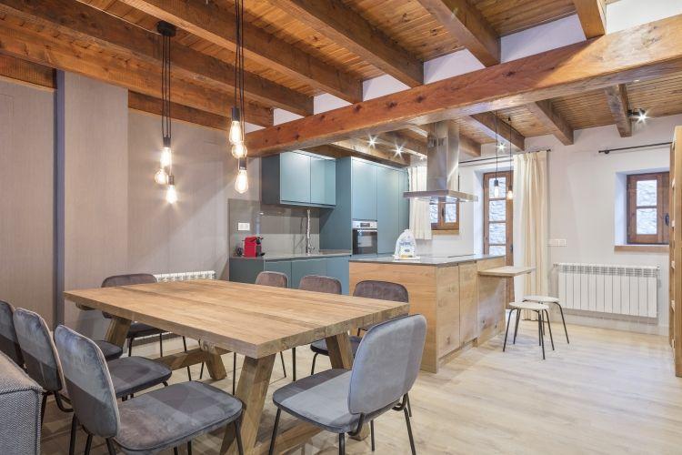 Casa Pruedo Sala Estar + Cocina