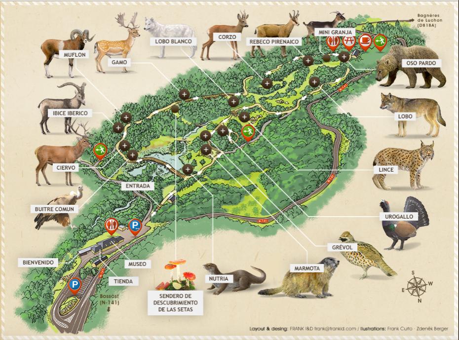 mapa aran park